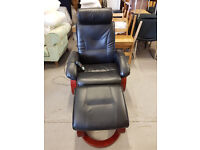 Heated reclining Massage chair with foot stool