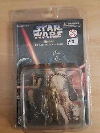 Star Wars die cast keychain han solo