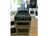 STOVES 55CM GAS DOUBLE OVEN COOKER IN SILVER