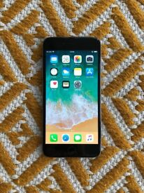 iPhone 6 Plus 16GB (space grey, factory unlocked) with leather case