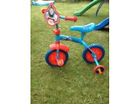 Thomas & Friends 2-In-1 Training Bike & Thomas Helmet