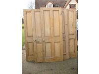4 Stripped Pine Doors