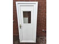 White UPVC Side/Back Double Glazed Door