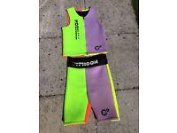 Mens Summer Wetsuit by Typhoon, shorts and sleeveless jacket, marked large