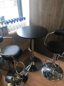 Bar stools & table