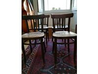 4 bentwood cafe style chairs