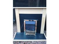 maple colour fire surround with electric fire, fair order, sold as seen***
