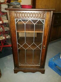 Carved Leaded Glass cabinet - Can deliver