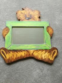 Handpainted teddybear mirror