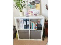 IKEA Kallax Expedit Bookcase 4 Shelves White 77 x 77 x 39 cm