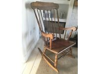 Beautiful Oak Rocking Chair