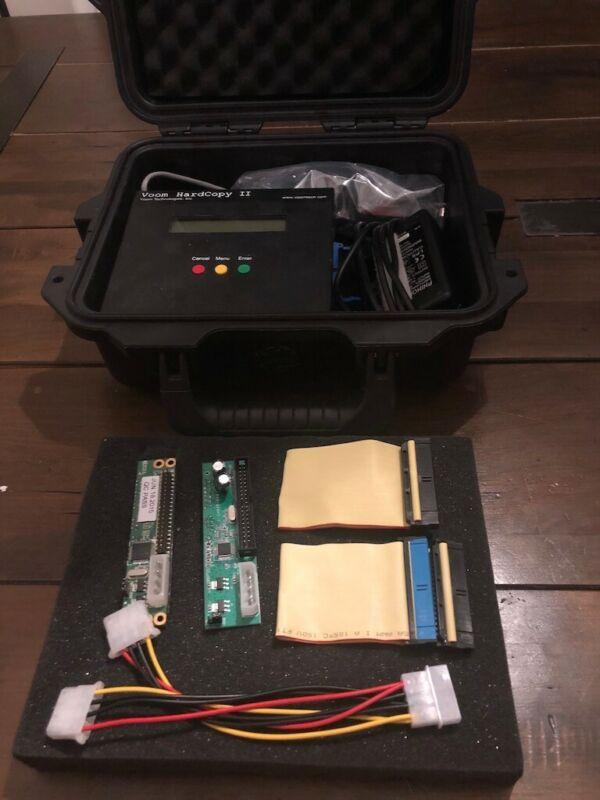 Voom Hardcopy II Forensic Hard Drive duplicator with Pelican case