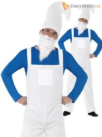 MENS GARDEN GNOME / SMURF FANCY DRESS OUTFIT SIZE L PARTY OR STAG DO