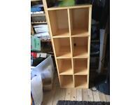 Ikea pine multi - way shelving unit