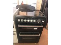 60CM BLACK SILVER HOTPOINT ELECTRIC COOKER