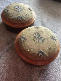 Pair of antique footrests