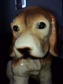 REDUCED!!! BEAUTIFUL GLAZED DOG ORNAMENT...PERFECT CONDITION