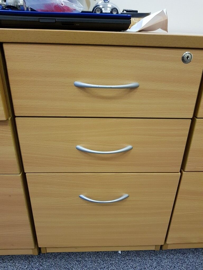 Free Pedestals Filing Cabinets Beech Effect 6 Available