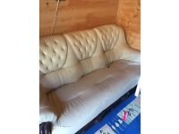 Leather sofa 3seater plus 2 seats and a dinning table