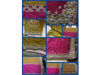 Beautiful Indian Ethnic Bollywood Party Wear Designer Saree used only one time. £20