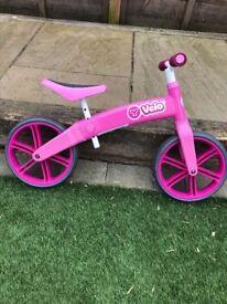 Child's Velo Pink Balance Bike