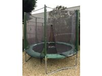 8ft Plumb trampoline with safety enclosure