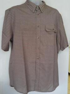 TILLEY ENDURABLES Mens Large Checker Shirt 42-44 L Coolmax Breathable polyester New Old deadstock Quality