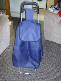 Nearly New Large Blue Shopping Trolley
