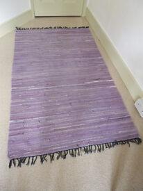 Pretty rag rug in shades of lavender - unused