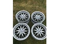 "BMW BBS 2 Piece 17"" Staggered set of Alloys 8"" & 9"""