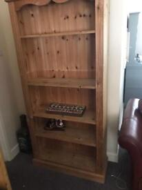 Solid pine shelving unit bookcase
