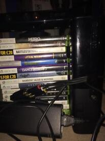 Xbox 360 with 17 games also Kinect
