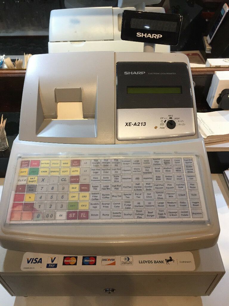 Sharp XE-A213 Till (Cash Register)