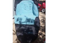 Grecco blue buggy / pushchair cosy toes / footmuff