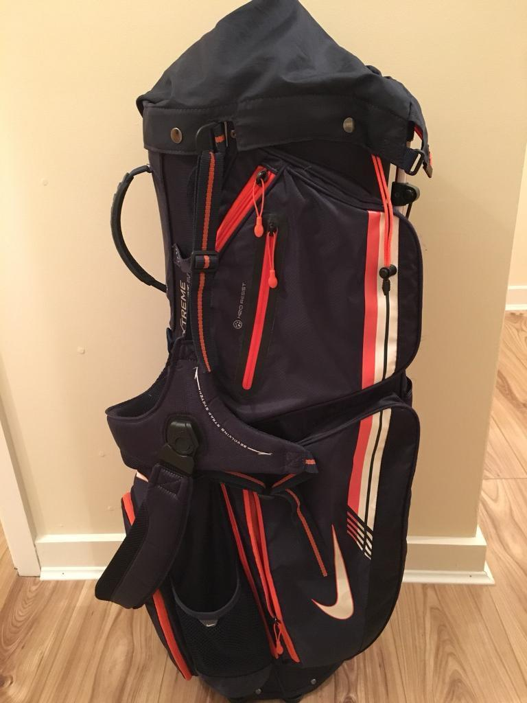 Nike Extreme Sport IV Navy Orange Golf Carry Bag  82967dc968378