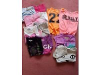 Girls age 9-10 short and long sleeve t-shirts
