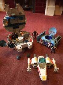 Star Wars set - millennium falcon, x wing fighter and tie fighter