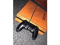 PS4 Mint Condition! Wrapped In Wood Like Covering