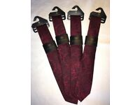 Wedding ties - burgundy - Scott & Taylor. Brand new with tags.