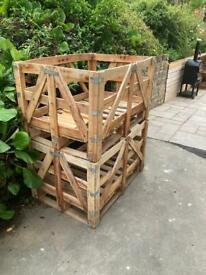 X 2 wooden crates