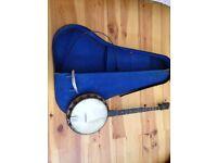 Windsor Whirle Gem Junior 5 String Banjo with case. 1920/30s by Windsor a Birmingham Maker.