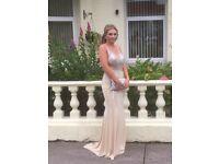 Champagne prom dress size8/10