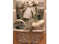 7 piece Magnolia Bloom basket bath giftset-brand new & sealed