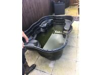 Large garden pond plus pump filter etc