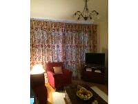 2 PAIRS FULLY LINED SANDERSON PRINT CURTAINS