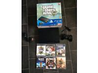 Ps3 super slim 500gb console (boxed with 6 games)