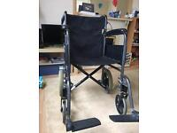 Wheel chair with hand breaks