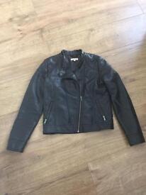 Girls black leather jacket - Age 11