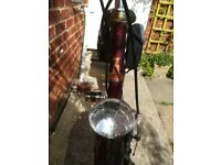gc Vintage maroon Raleigh bicycle,bike rack,stand,dynamos. Handlebars some spotting,needs tyres