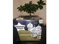 Brand New!!! Tommee Tippee Closer to Nature 260 ml/9fl oz Feeding Bottles (4-pack